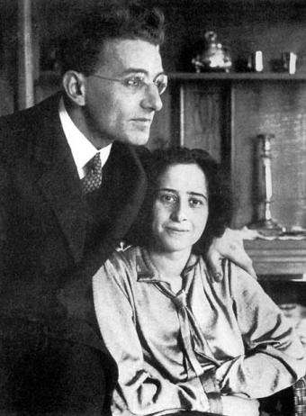 漢娜鄂蘭與第一任丈夫君特・斯坦 。(取自Centro de Estudos Hannah Arendt)