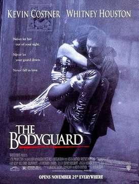 《終極保鑣》這部好萊塢經典名片,是由凱文科斯納與惠妮休斯頓分飾男女主角的愛情電影。(取自維基百科)