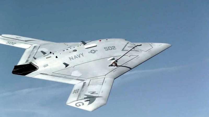 X-47B 具有極佳的隱身性能和戰場生存能力。(圖/YouTube)