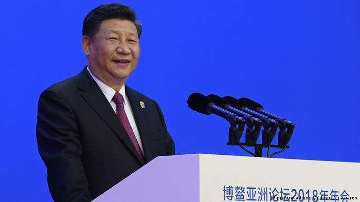 4月10日,中國國家主席習近平在博鰲論壇宣佈,將降低汽車關稅、改善知識產權保護。(德國之聲)