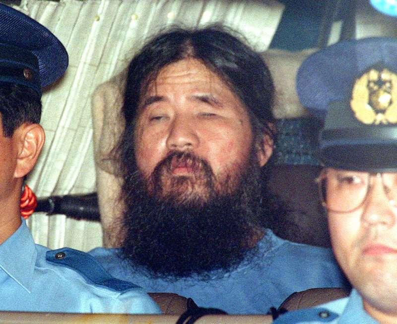 麻原彰晃6日傳出已遭執行死刑完畢。(美聯社)