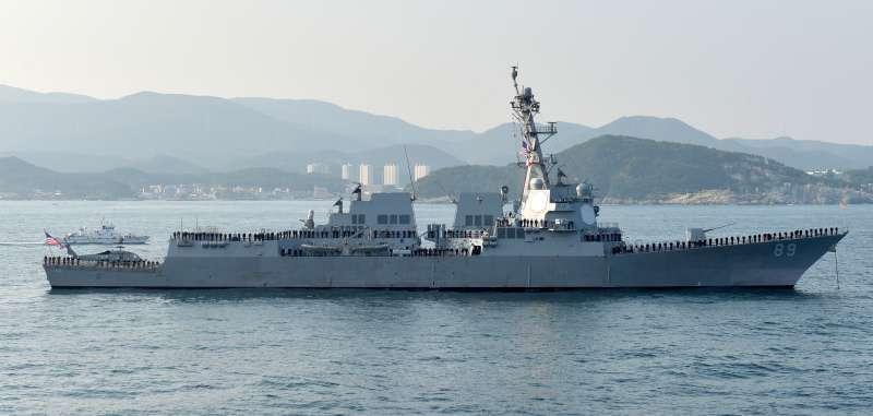 20170708-美國太平洋艦隊8日證實,2艘美國海軍軍艦7日與8日航經台灣海峽。圖為「馬斯廷號」驅逐艦(DDG-89)。(資料照,取自Republic of Korea Armed Forces@wikipedia/CC BY-SA 2.0)