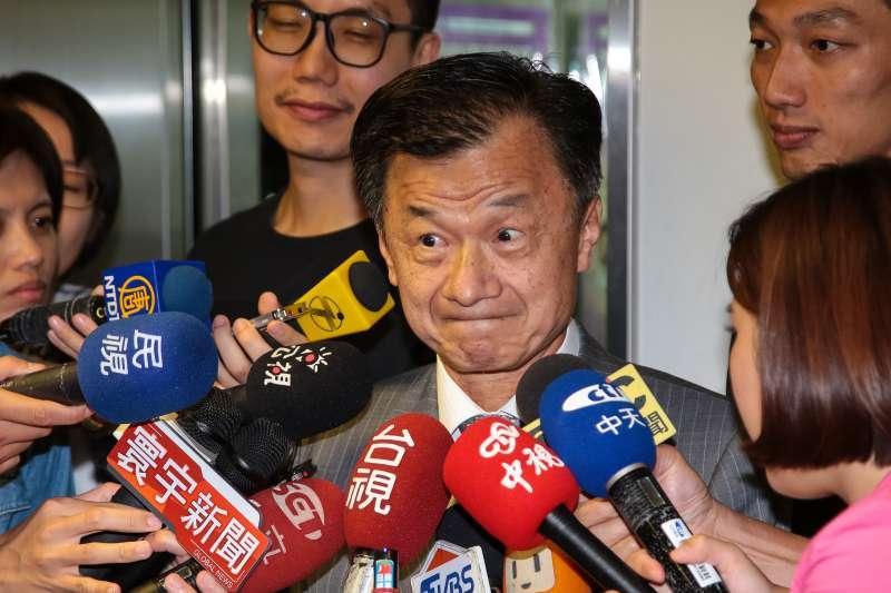 20180713-法務部長邱太三13日出席法務部同仁所舉辦的歡送會。(顏麟宇攝)