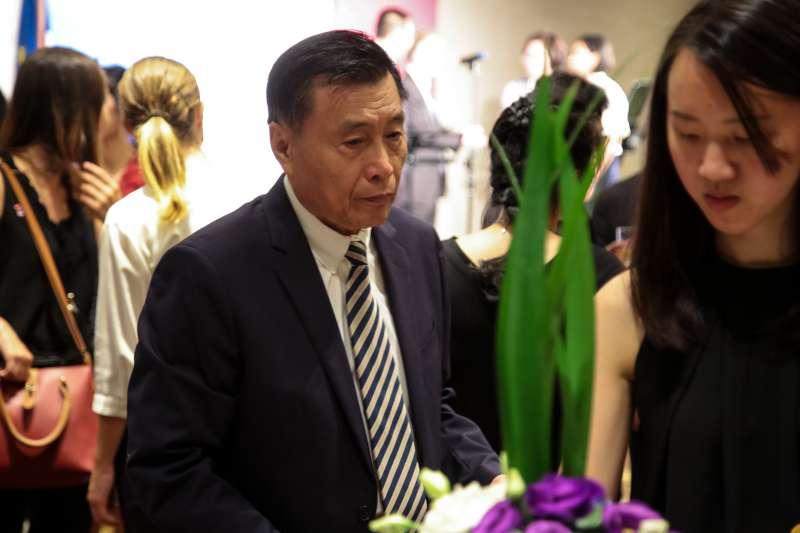 20180714-國安局長彭盛竹14日出席法國國慶酒會。(顏麟宇攝)