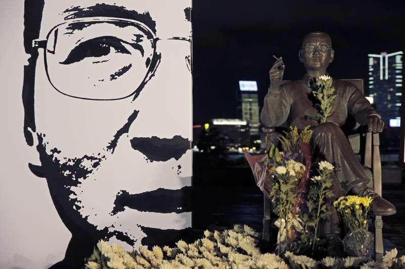 2018年7月13日,中國諾貝爾和平獎得主劉曉波逝世一周年,香港紀念儀式(AP)
