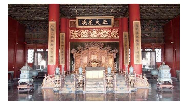 紫禁城宮內的「乾清宮」。(圖/大是文化提供)