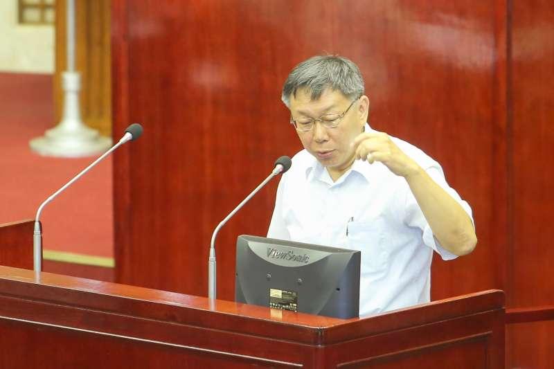 20180716-台北市長柯文哲市議會施政報告與質詢及答覆。(陳明仁攝)