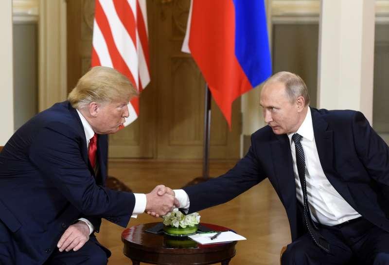 2018年7月16日「雙普會」,美國總統川普與俄羅斯總統普京在芬蘭首都赫爾辛基舉行高峰會(AP)
