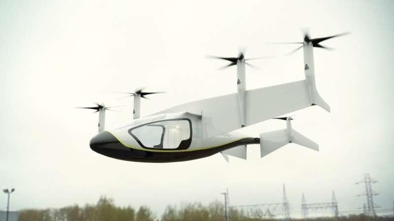勞斯萊斯飛天車的機翼可以做到90度旋轉,特別之處在於可以做到垂直起降。(圖/Rolls Royce,數位時代提供)