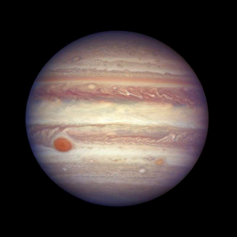 2017年4月3日,美國太空總署(NASA)公布的木星外觀照片。(AP)