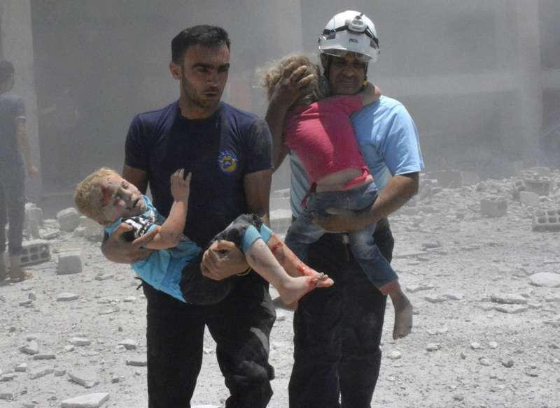出生入死、救苦救難的敘利亞白盔隊(AP)