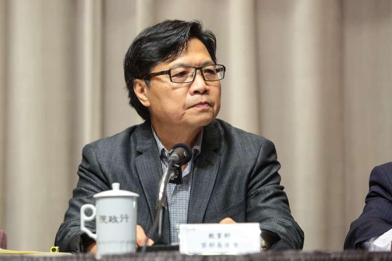 20180726-教育部長葉俊榮26日出席行政院會後記者會。(顏麟宇攝)
