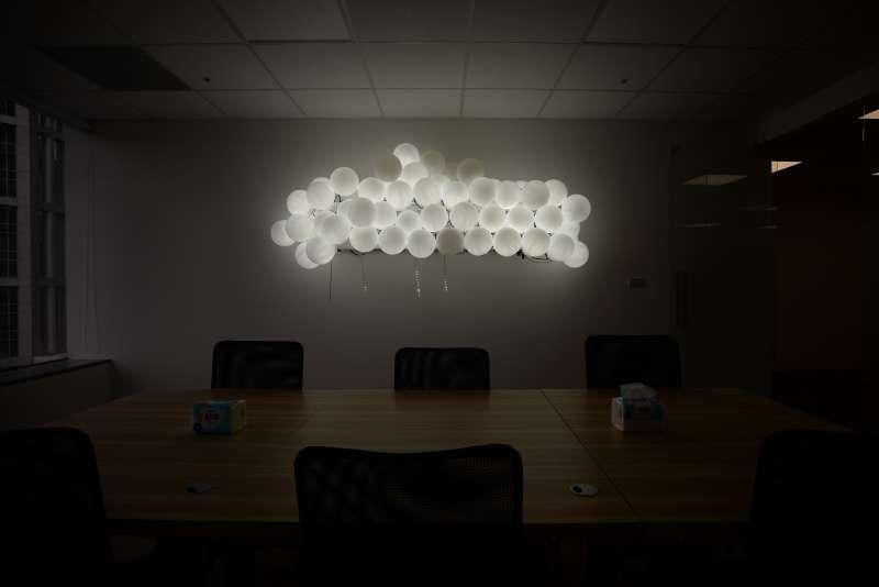 20180727-蘇貞昌辦公室設計團隊專訪,代表汐止的會議室設計。(甘岱民攝)