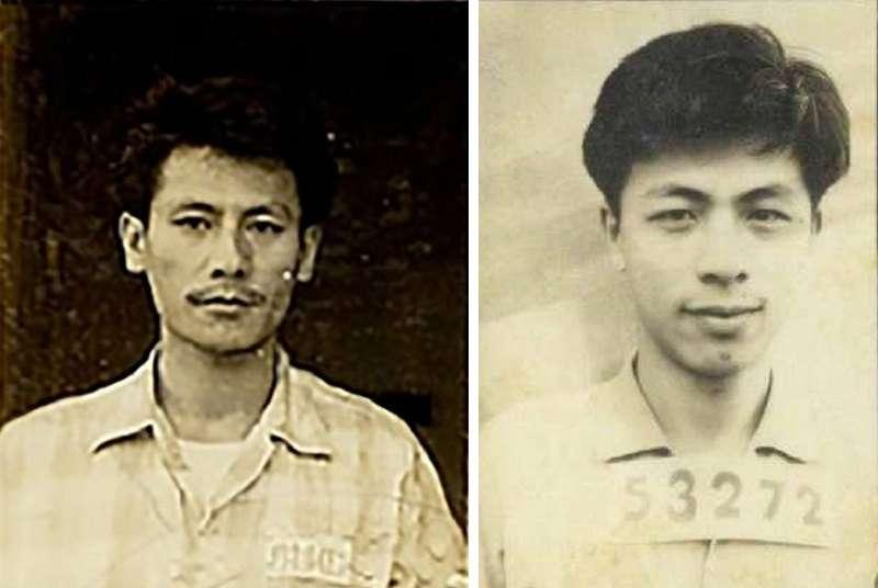 左∕取自國家檔案局台灣警備總司令部軍法處執行書用照片;右∕取自國家檔案局考核表用照片。(施明德提供)