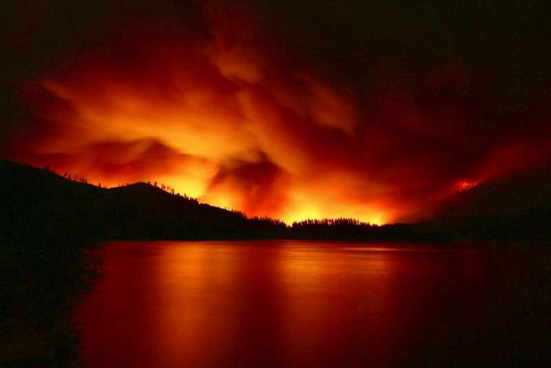 加州森林大火。(AP)
