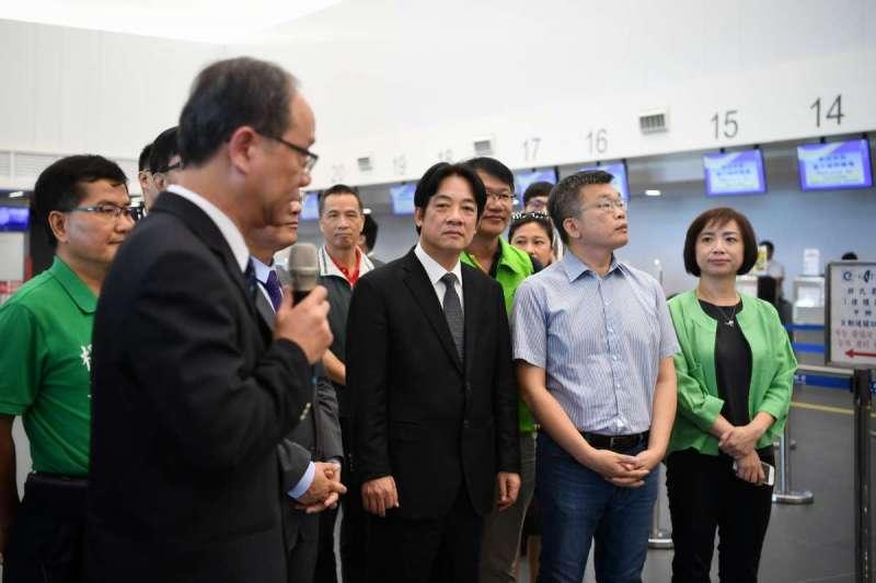 1070729-行政院長賴清德視察台中國際機場整體規劃發展情形。(圖/行政院官網)