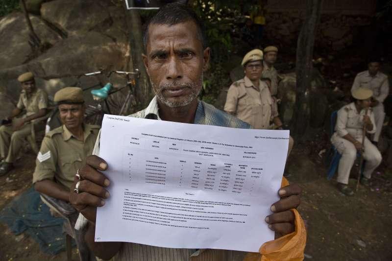 印度阿薩姆邦更新國家公民註冊名單,名字要在名單上才是合法印度公民(AP)