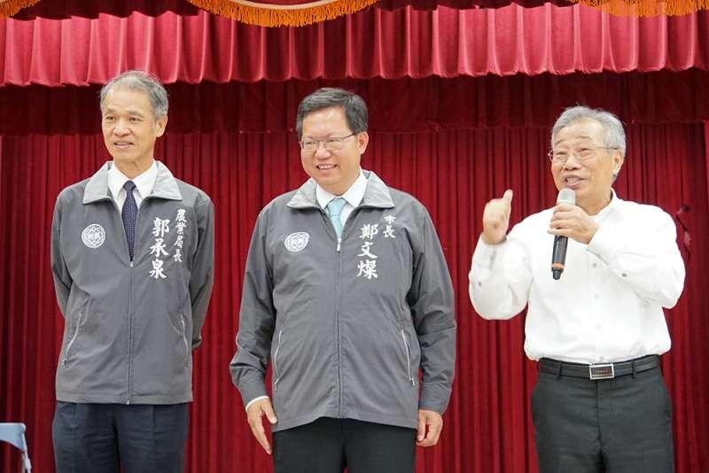 前民進黨中常委黃金春(右)8年前以無黨籍身分拿下桃園水利會會長寶座。卓峰然提供