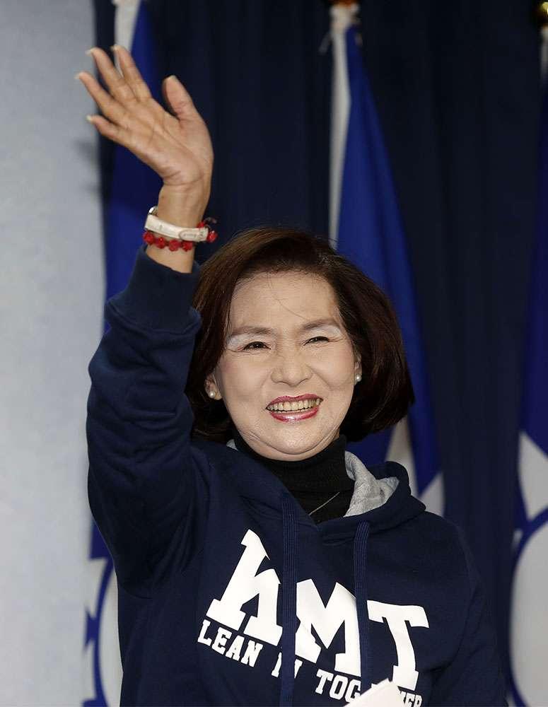 國民黨縣長參選人林姿妙背後有羅東鎮農會相挺。攝影/郭晉瑋