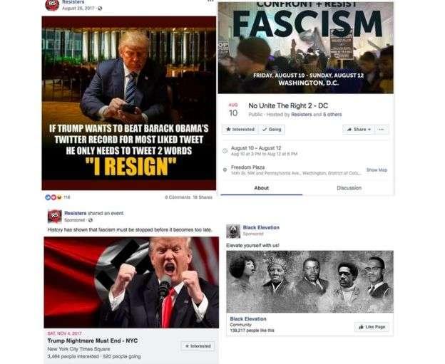 臉書7月31日宣布,刪除32個具有影響美國期中選舉意圖的帳號、專頁,其中有專頁發文反川普。(Facebook)