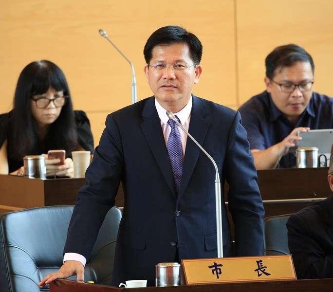 台中市長林佳龍,認為台中發展正在起步,若限電將造成十分嚴重的影響。(台中市政府提供)