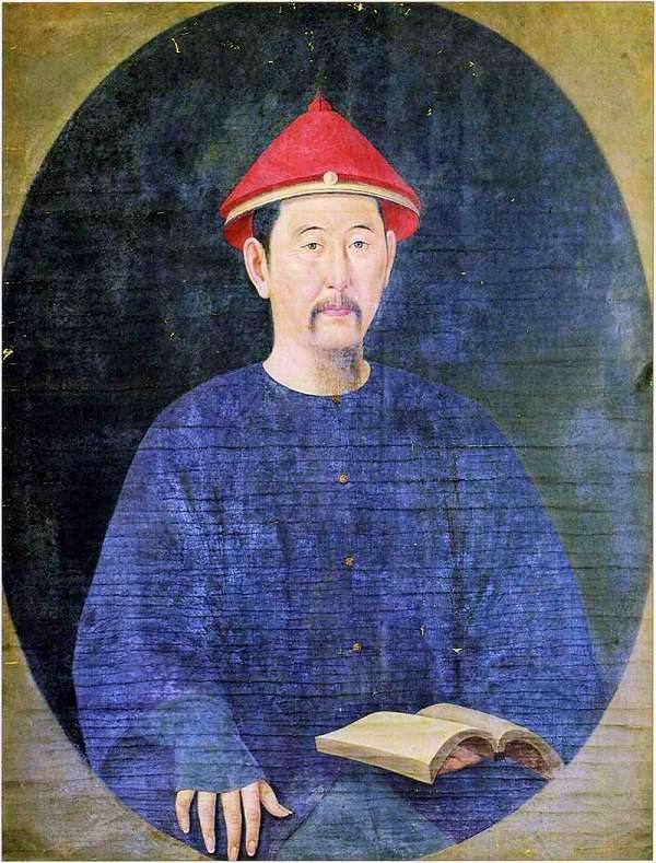 颇具西洋画风的康熙帝画像。(圖/澎湃新聞)