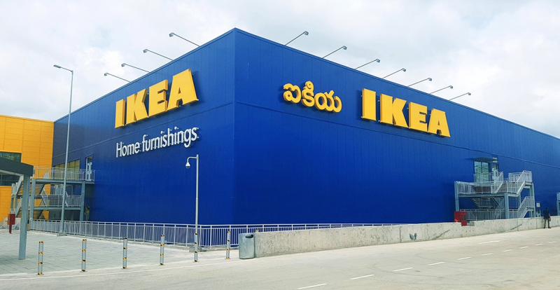 IKEA進軍印度,在南部科技大城海得拉巴開設首間分店。(IKEA官方推特)