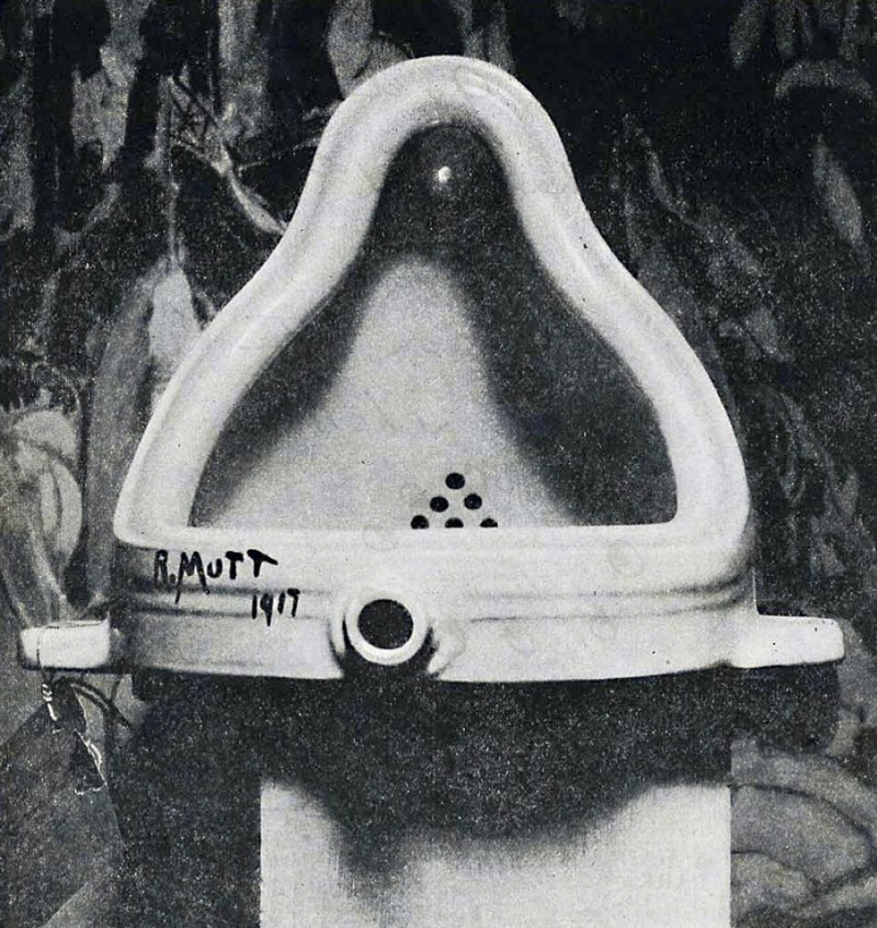bosaprin:圖一:杜象的《噴泉》(Fountain)於1917年的原作。(Alfred Stieglitz攝)