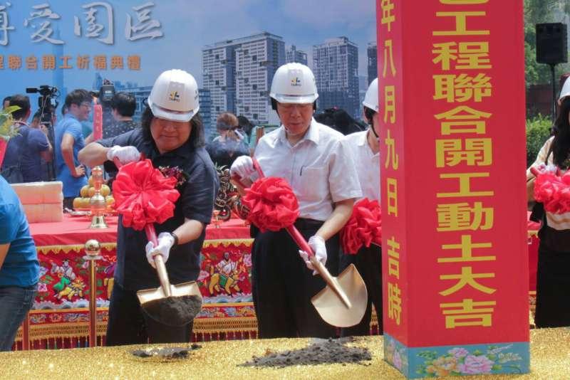 20180809-台北市長柯文哲9日前往廣慈博愛園區參加動土典禮。(方炳超攝)