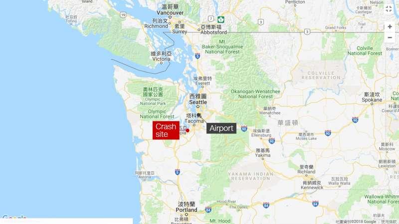 2018年8月10日,美國西雅圖─塔科馬國際機場,一架客機失竊,被竊嫌開上了天(網路截圖)