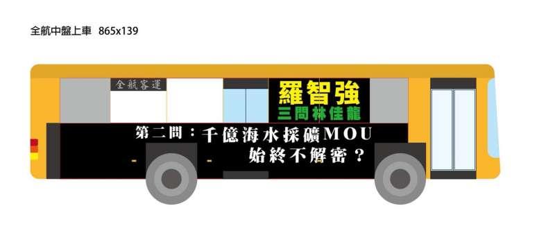 20180814_羅智強在台中買「公車廣告」3問市長林佳龍。(翻攝羅智強臉書)