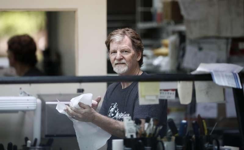美國科羅拉多州「傑作蛋糕店」反同、反LGBTQ的老闆菲利浦(Jack Phillips)(AP)