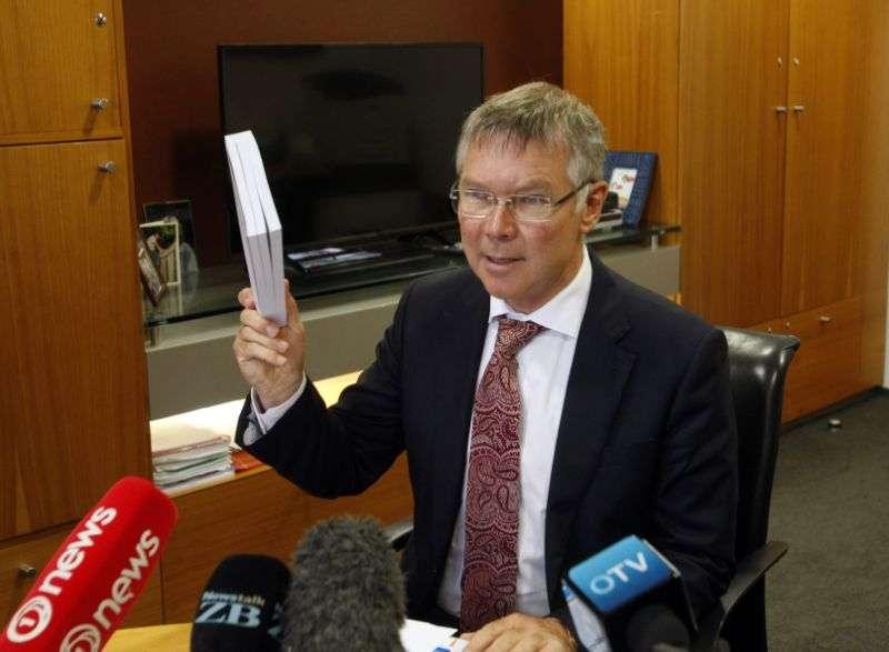 紐西蘭財政次長帕克(David Parker)接受媒體採訪。(AP)