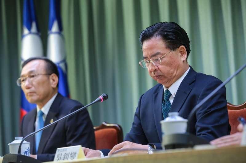 20180821-外交部長吳釗燮21日宣布我國與薩爾瓦多終止外交關係。(顏麟宇攝)