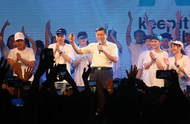 根據本刊民調,柯文哲獲得年輕人的支持已經跨出台北市。(柯承惠攝)
