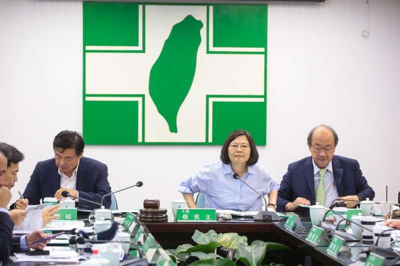 20180822-總統蔡英文22日出席民進黨中常會。(顏麟宇攝)