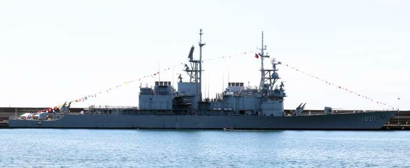 20180822-海軍蘇澳基地營區開放,展示紀德級基隆艦。(蘇仲泓攝)