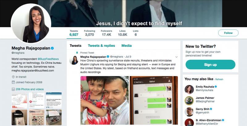 李香梅的推特上仍舊刊登著新疆的報導。(翻攝自網路)