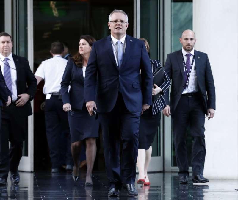 2018年8月24日,澳洲財長莫里森(Scott Morrison)扶正,成為澳洲第30位總理。(AP)