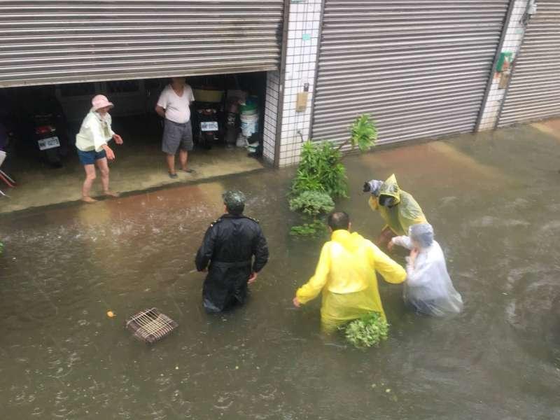 2018年8月,南台灣豪雨成災,嘉義縣災情(張花冠臉書)
