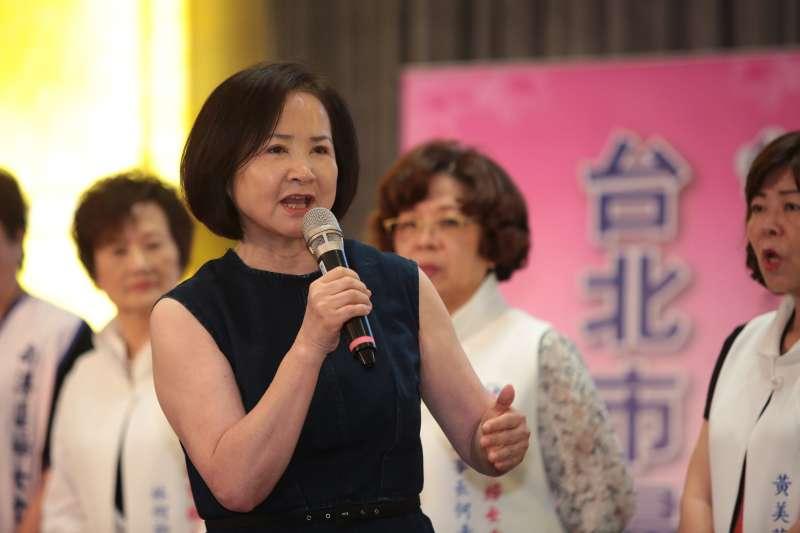 20180828-國民黨主席吳敦義夫人蔡令怡28日出席「台北市婦女會挺丁守中後援會成立大會」。(顏麟宇攝)