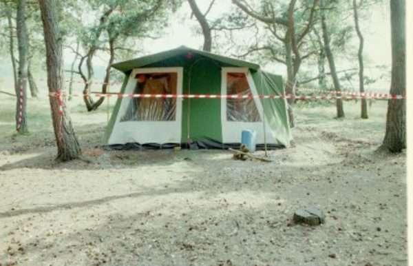 荷蘭20年懸案,受害男童居住的帳篷。(取自荷蘭警方)