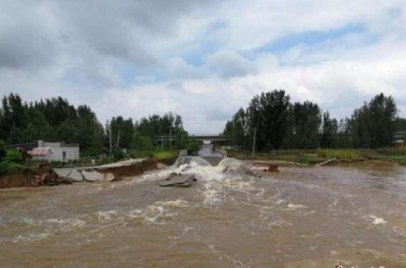 溫比亞颱風讓中國山東受災嚴重。(中新網)