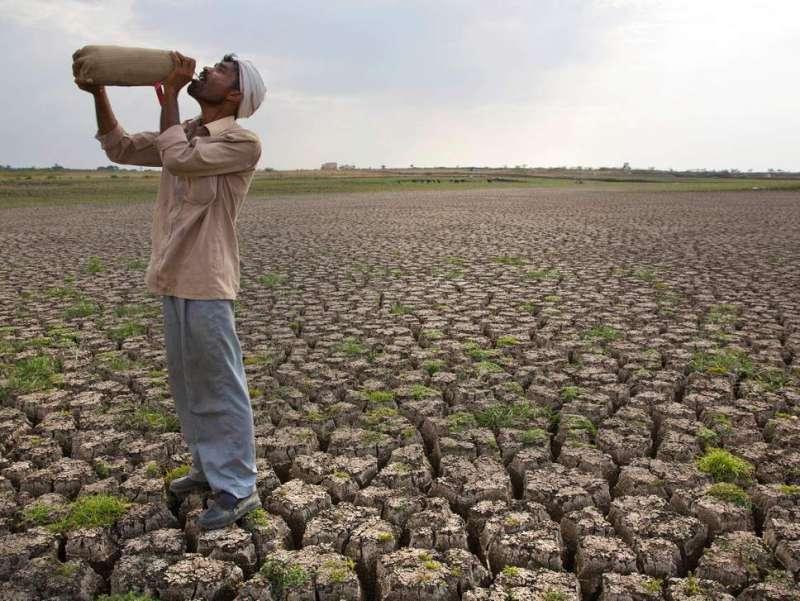 全球暖化加劇,印度馬拉斯沃德(Marathwada )乾旱嚴重,當地農業受到嚴重衝擊(AP)