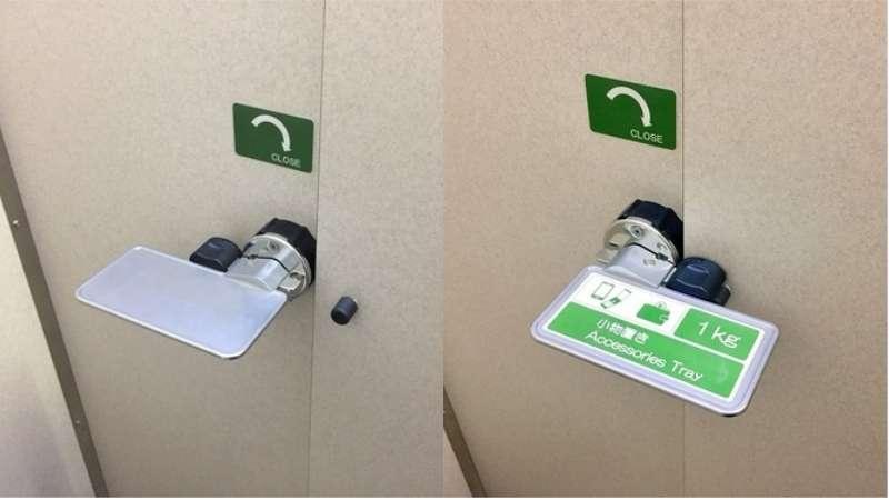 日本道路休息站廁所竟有貼心手機放置架。(圖/翻攝自 youtube,智慧機器人網提供)
