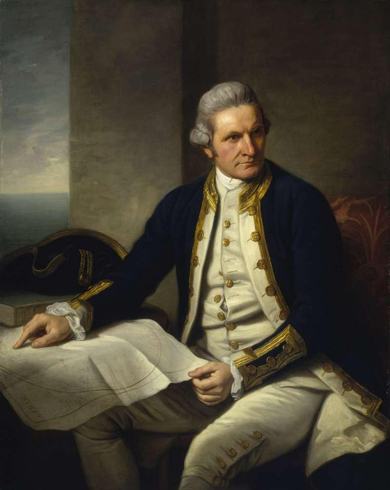 庫克船長(James Cook)(Wikipedia / Public Domain)