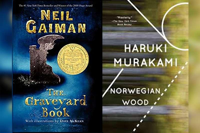 尼爾蓋曼《墓園裡的男孩》(左)與村上春樹的代表作《挪威的森林》(圖片:www.amazon.com/製圖:風傳媒)
