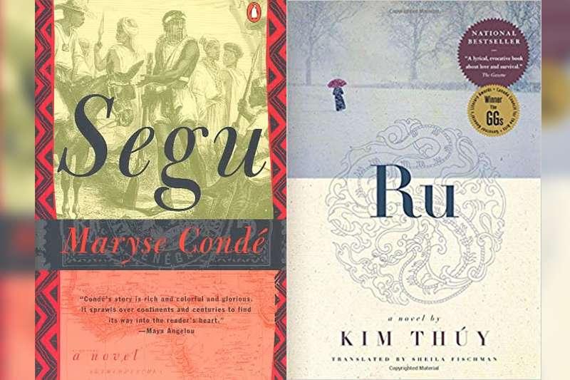 孔德代表作《塞古》(左)與金翠的自傳體小說《漂》(右)(圖片:www.amazon.com/製圖:風傳媒)