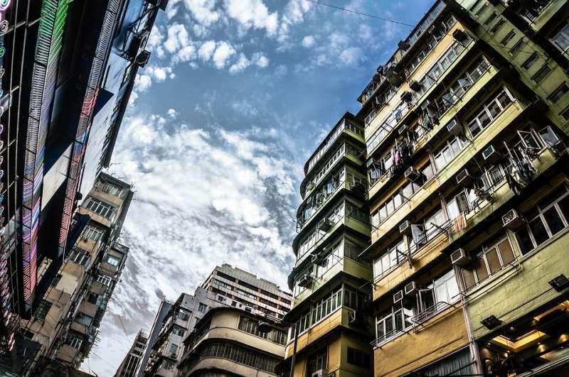 香港 蝸居 老舊樓房 住宅(取自ImageDragon@pixabay/CC0)