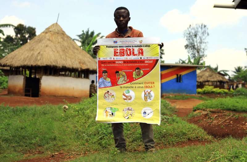 衛教宣導對伊波拉防治工作至關重要。(AP)